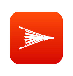 fire bellows icon digital red vector image