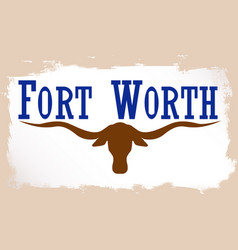 Flag of fort worth vector