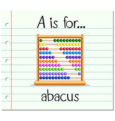 Flashcard letter A is for abacus vector