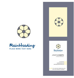 football creative logo and business card vertical vector image