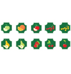 fruits set of icons vector image