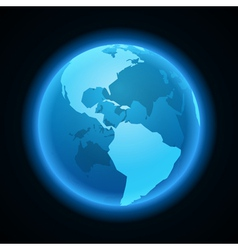 Globe earth night light icon vector