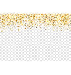 Gold stars on transparent background holiday vector