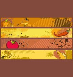 grunge banners food vector image