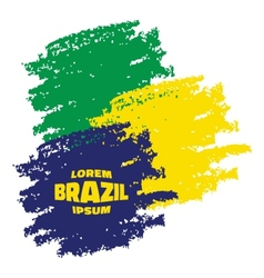 Grunge Smears using Brazil flag colors vector image
