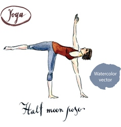 Half moon pose vector image