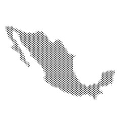Halftone grey mexico map vector