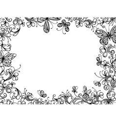 Hand-drawn floral background vector