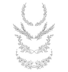 hand drawn frames decorative elements for vector image