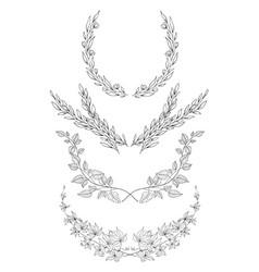 hand drawn frames decorative elements vector image