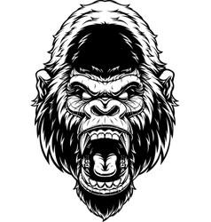 Head fierce gorilla vector