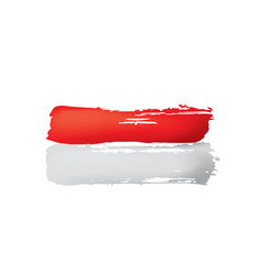 indonesia flag on a white vector image