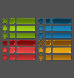 interface buttons set for space games or apps vector image