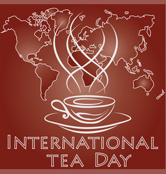 international tea day vector image