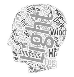It Was a Dark and Stormy Night text background vector