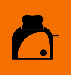 Kitchen toaster icon vector