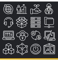 Lines icons pack collection vector