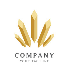 luxury logo template for property business vector image