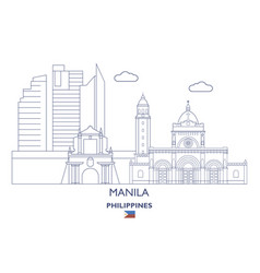 Manila city skyline vector