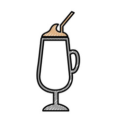 Milkshake cup isolated icon vector