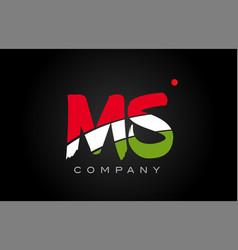 Ms m s alphabet letter logo combination icon vector