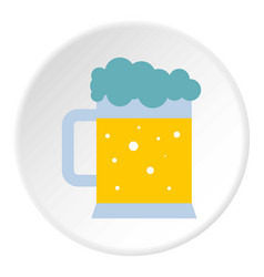 mug of beer icon circle vector image