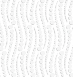 Paper cut out dotted vertical snakes vector