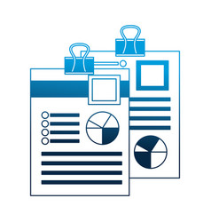 papers work with clip flowchart information vector image