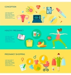 Pregnancy Banners Set vector
