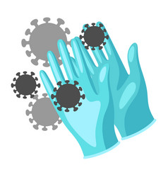 protective medical gloves vector image