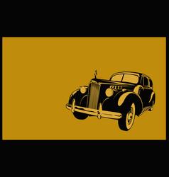 Retro vintage car vector