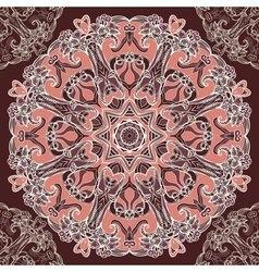 Round floral design seamless pattern vector