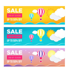 sale banner template design set web banner flyer vector image