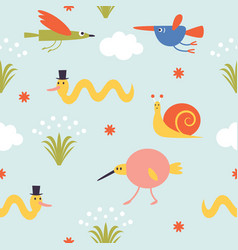 Seamless pattern for kids vector