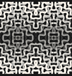 Seamless pattern with tangled curved fading shapes vector