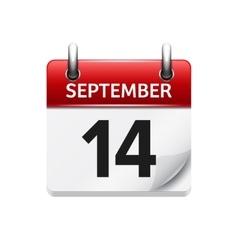 September 14 flat daily calendar icon vector