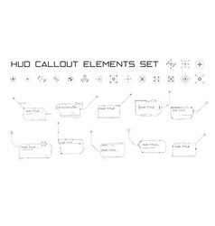 Set callout titles and targets in hud style vector