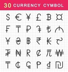 Set Currency Symbols vector