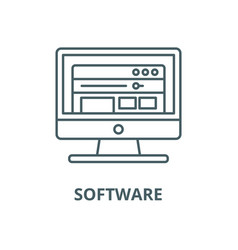 software line icon linear concept outline vector image