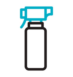 spray bottle medical product line style vector image