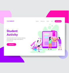 student activity concept vector image