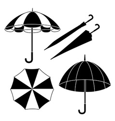 Umbrella design over white background vector image