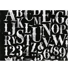 Vintage gothic alphabet chalk vector