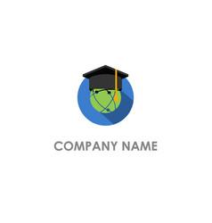world graduation hat university logo vector image