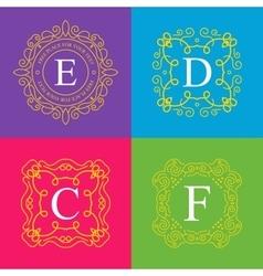 Abstract creative concept logo of retro vector image