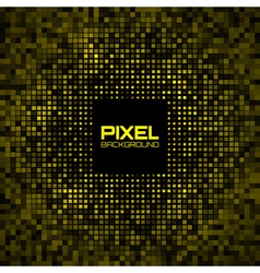 Abstract Pixel Yellow Bright Glow Background vector image