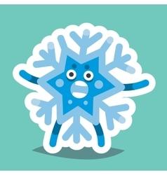 Emoticon Icon Happy New Year Snowflake vector image vector image