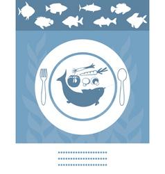fish menu vector image