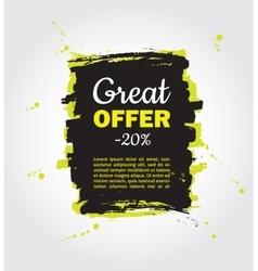 Grunge splash sale banner Black friday vector image