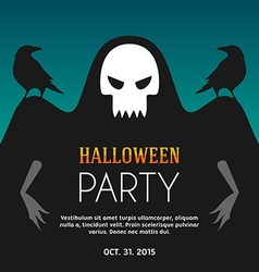 Halloween party flyer or poster template vector